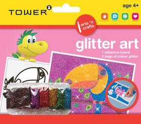 Tower Kids Glitter Art - Parrot