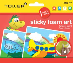 Tower Kids Sticky Foam Art - Aeroplane