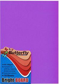 Butterfly A4 Bright Board - 10s - Purple