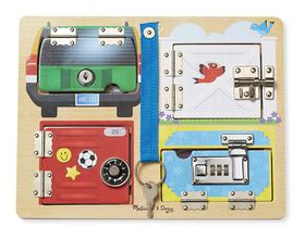 Melissa & Doug Locks Wooden Board