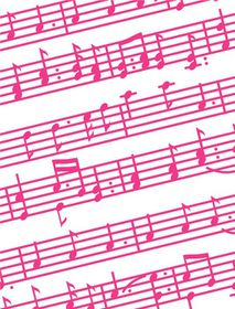 Craft Concepts Classics Embossing Folder A2 - Music Notes