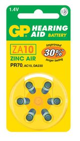 GP Batteries 1.4V ZA10 Hearing Aid Zinc Air Batteries