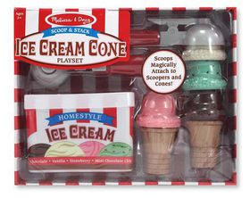 Melissa & Doug Scoop And Stack Ice Cream Cone Set