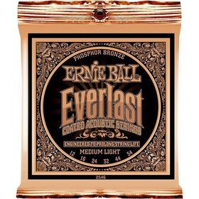 Ernie Ball 2546 Everlast Acoustic Guitar Strings Phosphor Bronze - Medium Light (12 - 54)