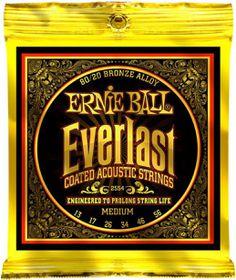 Ernie Ball 2554 Everlast Acoustic Guitar Strings 80/20 Bronze - Medium (13 - 56)