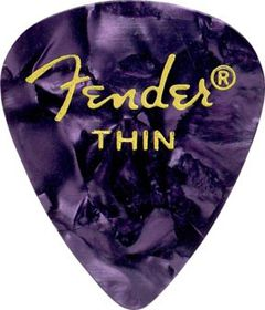 Fender 351 Shape Plectrum Purple-Moto Thin (12 Pack)