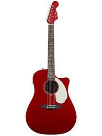 Fender Sonoran SCE, Cutaway Acoustic Electric Guitar - C&y Apple Red