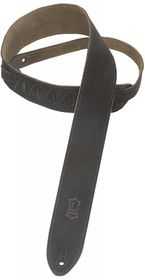 "Levy LLMS12BLK MS12 2"" Suede Guitar Strap - Black"