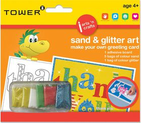 Tower Kids Sand & Glitter Art Greeting Card - Thank You