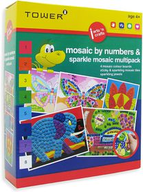 Tower Kids Multipack - Mosaic by Numbers & Sparkle Mosaic