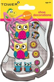 Tower Kids Shoe Decorations - Funky Owls 4