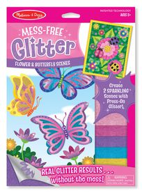 Melissa & Doug Flower and Butterfly Scenes - Mess Free Glitter