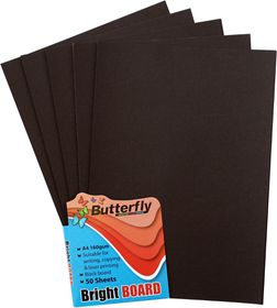 Butterfly A4 Bright Board 50s - Black