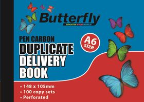 Butterfly A6 Duplicate Book - Delivery 200 Sheets