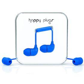 Happy Plugs In-Ear + Mic & Remote - Cobalt
