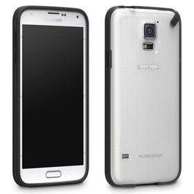 PureGear Slim Shell Case for Samsung S5 - Clear/Black