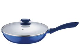 Wellberg 26cm Frypan with Lid - Blue