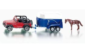 Siku Jeep with Trailer & Horse