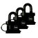 Yale - 35mm Trailer Padlock - 3 Pack Keyed Alike