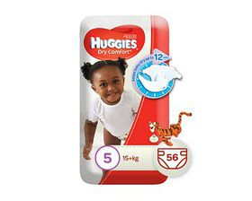 Huggies - Dry Comfort - Size 5 Junior 56 Jumbo Pack