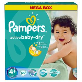 Pampers - Active Baby Maxi Plus - Mega Pack - Size 4+