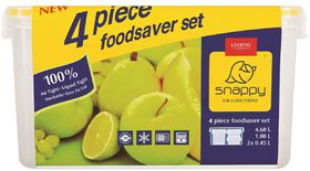 Snappy Food - 4 Piece Rectangular Promotional Food Storage Set
