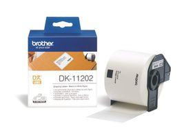 Brother DK-11202 Shipping Labels (62mm x 100mm) Roll- Black on White Paper