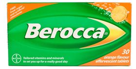 Berocca Orange Effervescent Tablets 30