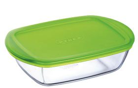 Pyrex - Storage Cook and Store Rectangular Dish With Lid - 1.1 Litre