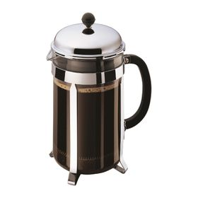 Bodum - Chambord Coffee Maker 12 Cup - Stainless Steel and Glass