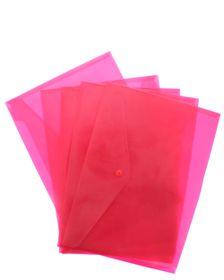 Bantex Polypropylene A4 Envelopes - Red (Pack of 5)
