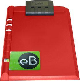 Bantex A5 Plastic Clipboard - Red