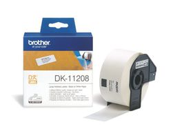 Brother DK-11208 Large Address Labels (38mm x 90mm) Roll - Black on White Paper