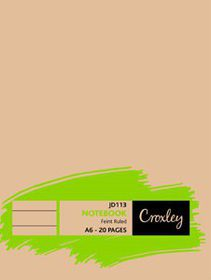Croxley JD113 20 Page A6 Feint Soft Cover Book (25 Pack)