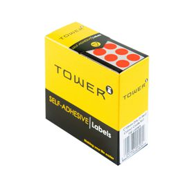 Tower C10 Colour Code Labels - Fluorescent Red