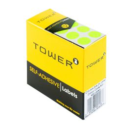 Tower C13 Colour Code Labels - Fluorescent Lime