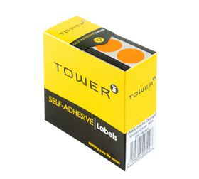 Tower C19 Colour Code Labels - Fluorescent Orange