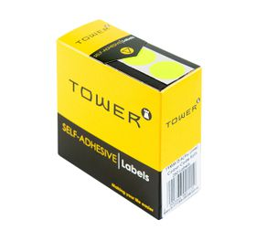 Tower C19 Colour Code Labels - Fluorescent Lime