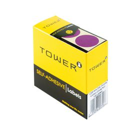 Tower C25 Colour Code Labels - Purple