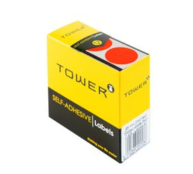 Tower C25 Colour Code Labels - Fluorescent Red