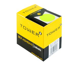 Tower C32 Colour Code Labels - Fluorescent Lime