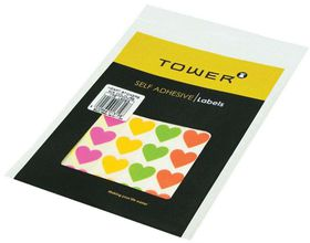 Tower Hearts - Mixed Fluorescent Colours