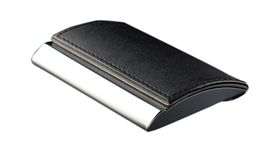 Tower Business Card Holder Side Opening - Black