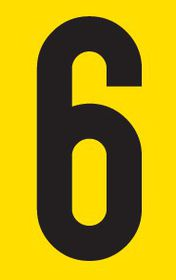 Tower Adhesive Number Sign - Small 6