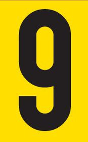 Tower Adhesive Number Sign - Large 9