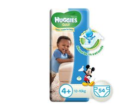Huggies - Gold Boy Size 4+ x 54 Nappies (10-16KG)