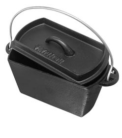 Afritrail Cast Iron Bread Pot - Black