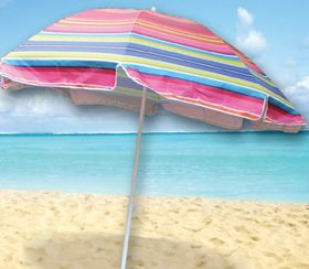 Seagull - Wind Vent Beach Umbrella Tilt UV50 Silver Coated - 256cm