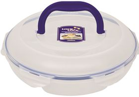 Lock and Lock -k Round Chip and Dip Container With Handle - 2.3 L