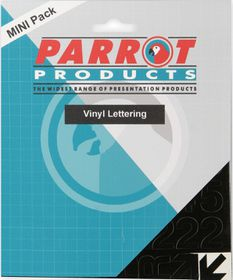 Parrot 25mm Vinyl Lettering Capitals - Red